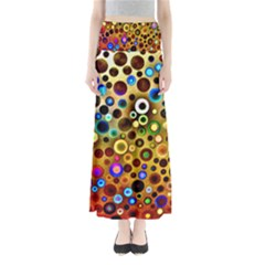 Colorful Circle Pattern Maxi Skirts by Costasonlineshop