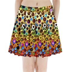 Colorful Circle Pattern Pleated Mini Skirt by Costasonlineshop