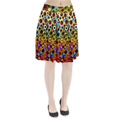 Colorful Circle Pattern Pleated Skirt by Costasonlineshop