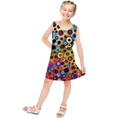 Colorful Circle Pattern Kids  Tunic Dress