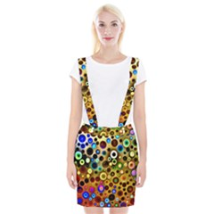 Colorful Circle Pattern Braces Suspender Skirt by Costasonlineshop
