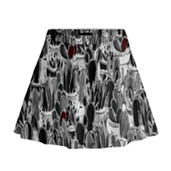 Cactus Mini Flare Skirt by Valentinaart