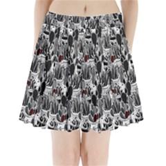Cactus Pleated Mini Skirt by Valentinaart