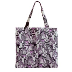 Cactus Zipper Grocery Tote Bag by Valentinaart