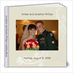 Jonathan and Amber Phillips wedding - 8x8 Photo Book (30 pages)