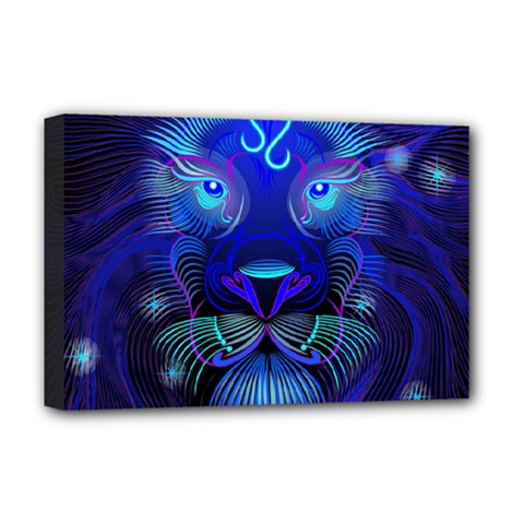 Sign Leo Zodiac Deluxe Canvas 18  X 12   by Mariart