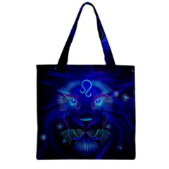 Sign Leo Zodiac Zipper Grocery Tote Bag by Mariart