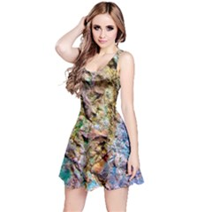 Abstract Background Wallpaper 1 Reversible Sleeveless Dress