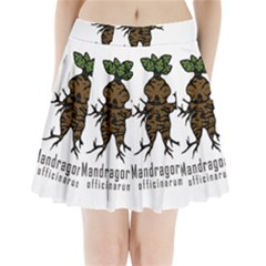 Mandrake Plant Pleated Mini Skirt by Valentinaart