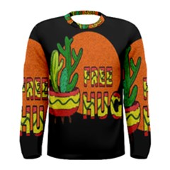 Cactus   Free Hugs Men s Long Sleeve Tee by Valentinaart
