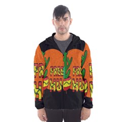 Cactus   Free Hugs Hooded Wind Breaker (men) by Valentinaart