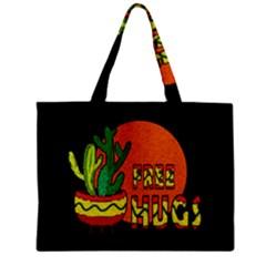 Cactus   Free Hugs Zipper Mini Tote Bag by Valentinaart