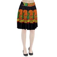 Cactus   Free Hugs Pleated Skirt by Valentinaart