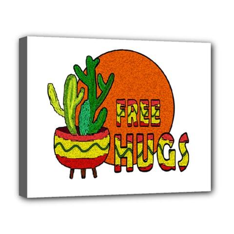 Cactus   Free Hugs Deluxe Canvas 20  X 16   by Valentinaart
