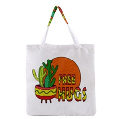 Cactus   Free Hugs Grocery Tote Bag by Valentinaart