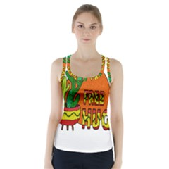 Cactus   Free Hugs Racer Back Sports Top