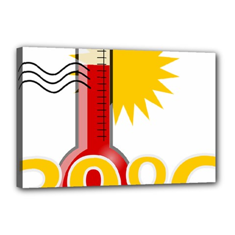 Thermometer Themperature Hot Sun Canvas 18  X 12  by Mariart