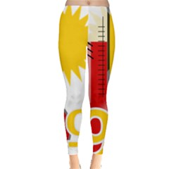 Thermometer Themperature Hot Sun Leggings  by Mariart