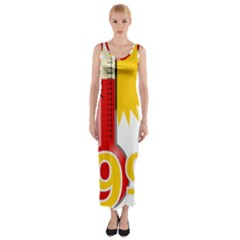 Thermometer Themperature Hot Sun Fitted Maxi Dress by Mariart