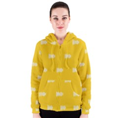 Waveform Disco Wahlin Retina White Yellow Women s Zipper Hoodie by Mariart