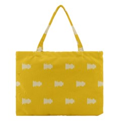 Waveform Disco Wahlin Retina White Yellow Medium Tote Bag by Mariart