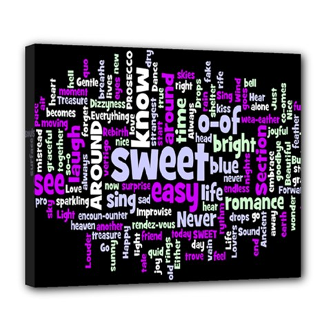 Writing Color Rainbow Sweer Love Deluxe Canvas 24  X 20   by Mariart