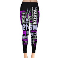 Writing Color Rainbow Sweer Love Leggings  by Mariart