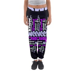 Writing Color Rainbow Sweer Love Women s Jogger Sweatpants by Mariart