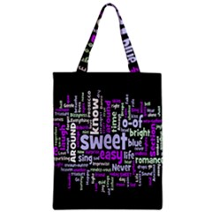 Writing Color Rainbow Sweer Love Zipper Classic Tote Bag by Mariart