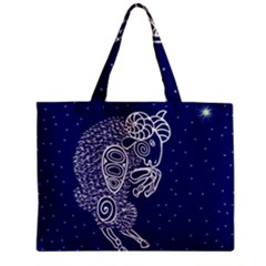 Aries Zodiac Star Zipper Mini Tote Bag by Mariart