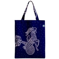 Capricorn Zodiac Star Zipper Classic Tote Bag by Mariart