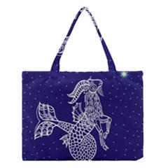Capricorn Zodiac Star Medium Tote Bag by Mariart