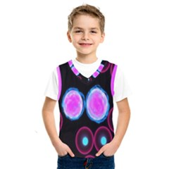 Cell Egg Circle Round Polka Red Purple Blue Light Black Kids  Sportswear by Mariart