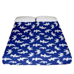 Birds Silhouette Pattern Fitted Sheet (california King Size)