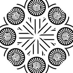 Jainism Ahisma Symbol  Hook Handle Umbrellas (small) by abbeyz71