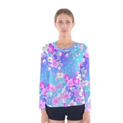 Flowers Cute Pattern Women s Long Sleeve Tee