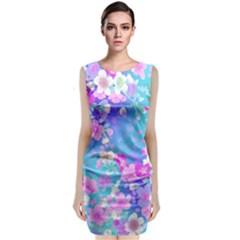 Flowers Cute Pattern Classic Sleeveless Midi Dress