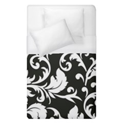 Black And White Floral Patterns Duvet Cover (single Size) by Nexatart