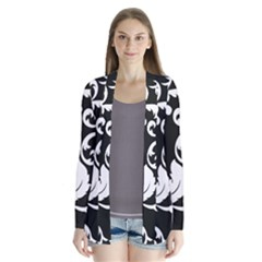 Black And White Floral Patterns Cardigans