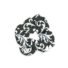 Black And White Floral Patterns Velvet Scrunchie
