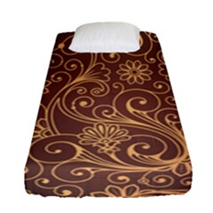 Gold And Brown Background Patterns Fitted Sheet (single Size) by Nexatart