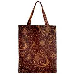 Gold And Brown Background Patterns Zipper Classic Tote Bag by Nexatart