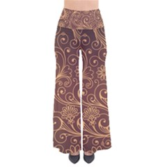Gold And Brown Background Patterns Pants by Nexatart