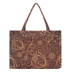 Gold And Brown Background Patterns Medium Tote Bag