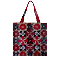 Beautiful Art Pattern Zipper Grocery Tote Bag by Nexatart
