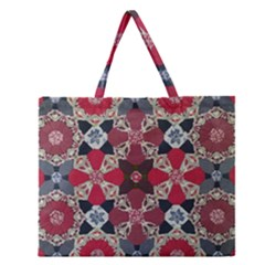 Beautiful Art Pattern Zipper Large Tote Bag by Nexatart