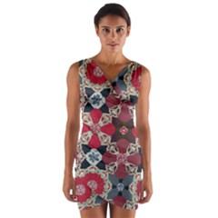 Beautiful Art Pattern Wrap Front Bodycon Dress