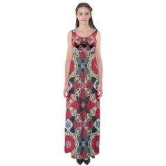 Beautiful Art Pattern Empire Waist Maxi Dress