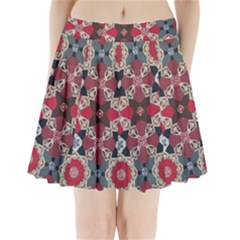 Beautiful Art Pattern Pleated Mini Skirt