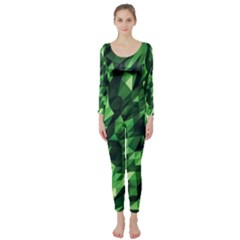 Green Attack Long Sleeve Catsuit
